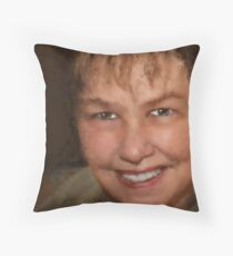 Our Scribbled friend... AuntDot! Throw Pillow