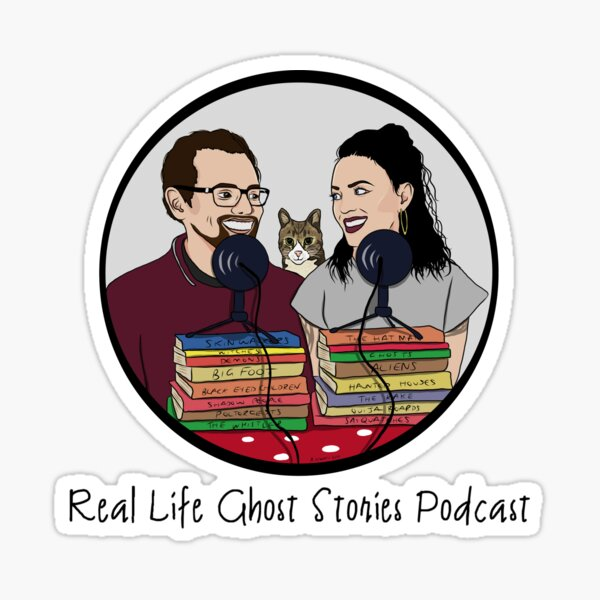 Real Life Ghost Stories Podcast Fan Art Sticker