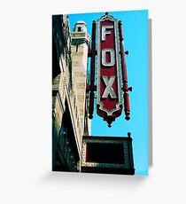 The Legendary Fox Theater Greeting Card