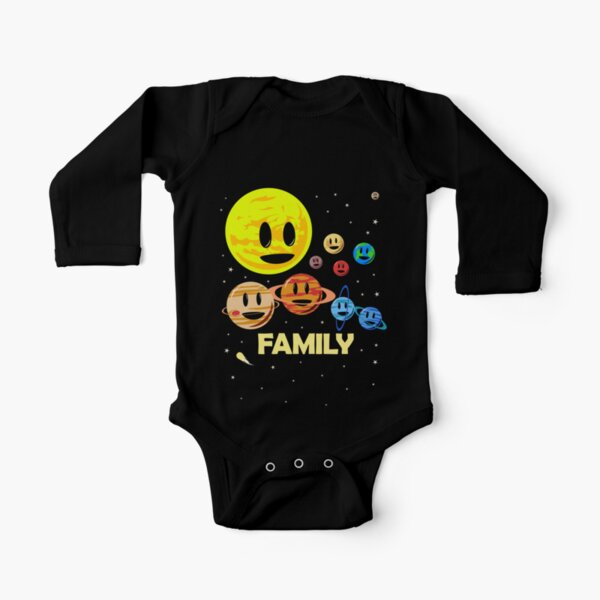 Solar System Family Long Sleeve Baby One-Piece