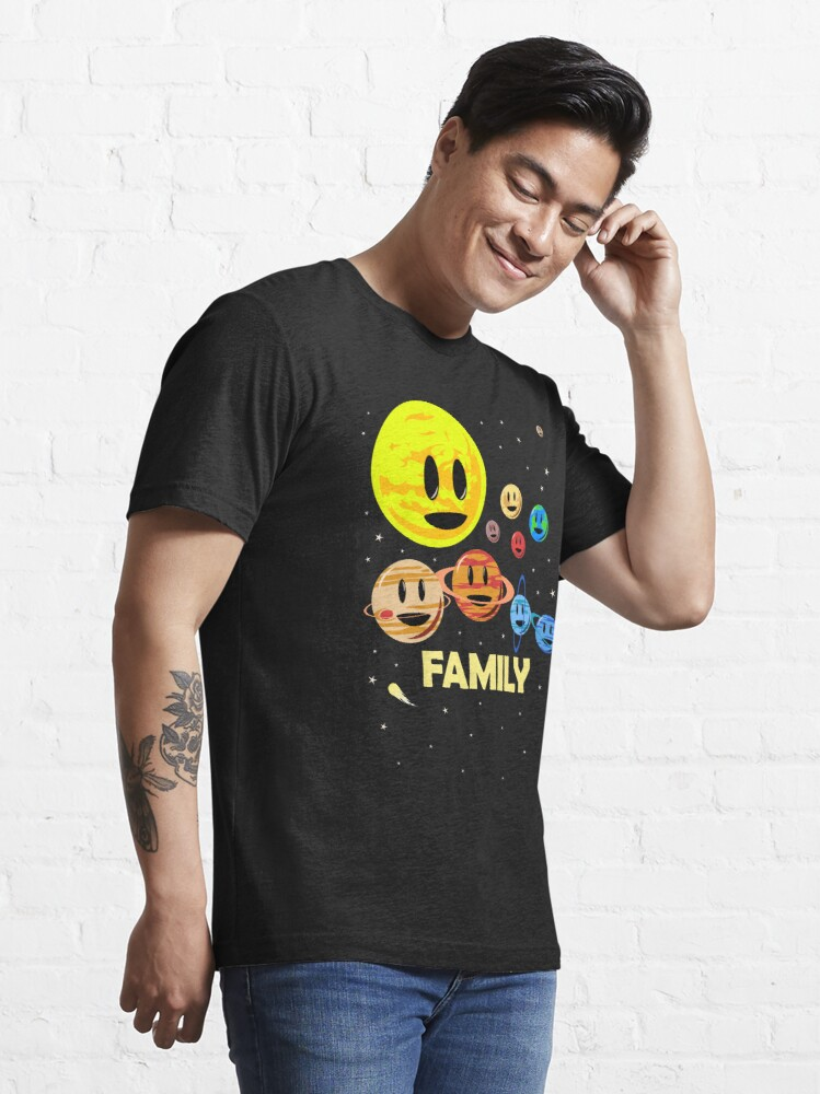 Alternate view of Solar System Family Essential T-Shirt
