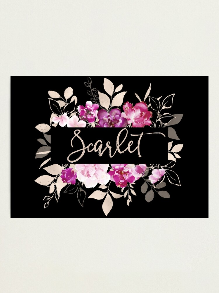 Alternate view of Pretty Ink Scarlet Photographic Print