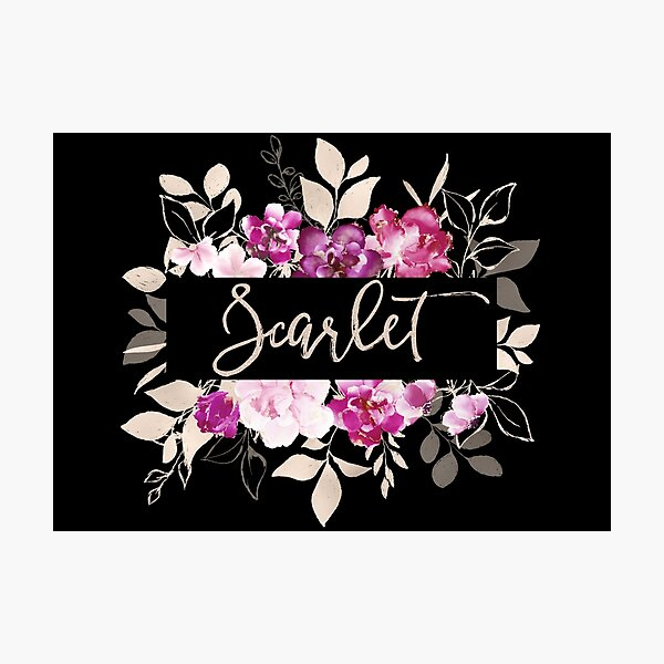 Pretty Ink Scarlet Photographic Print