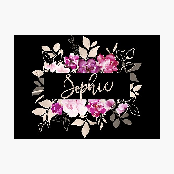 Pretty Ink Sophie Photographic Print