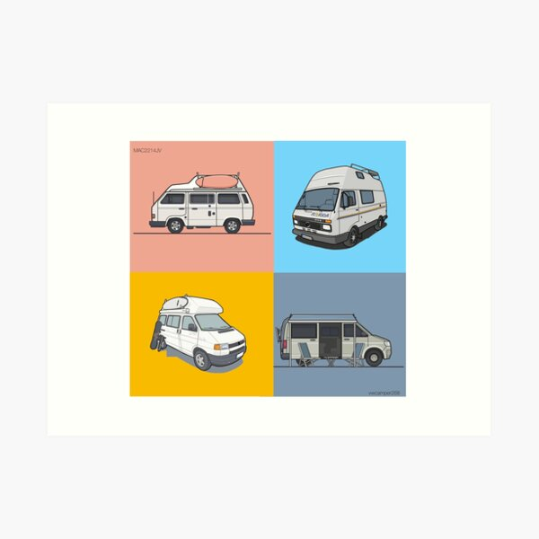 Our Campervans - rocking the streets since 1988 Art Print