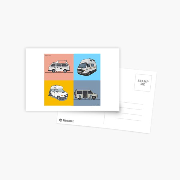 Our Campervans - rocking the streets since 1988 Postcard
