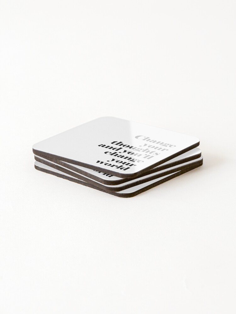 Alternate view of Change Your Thoughts Coasters (Set of 4)