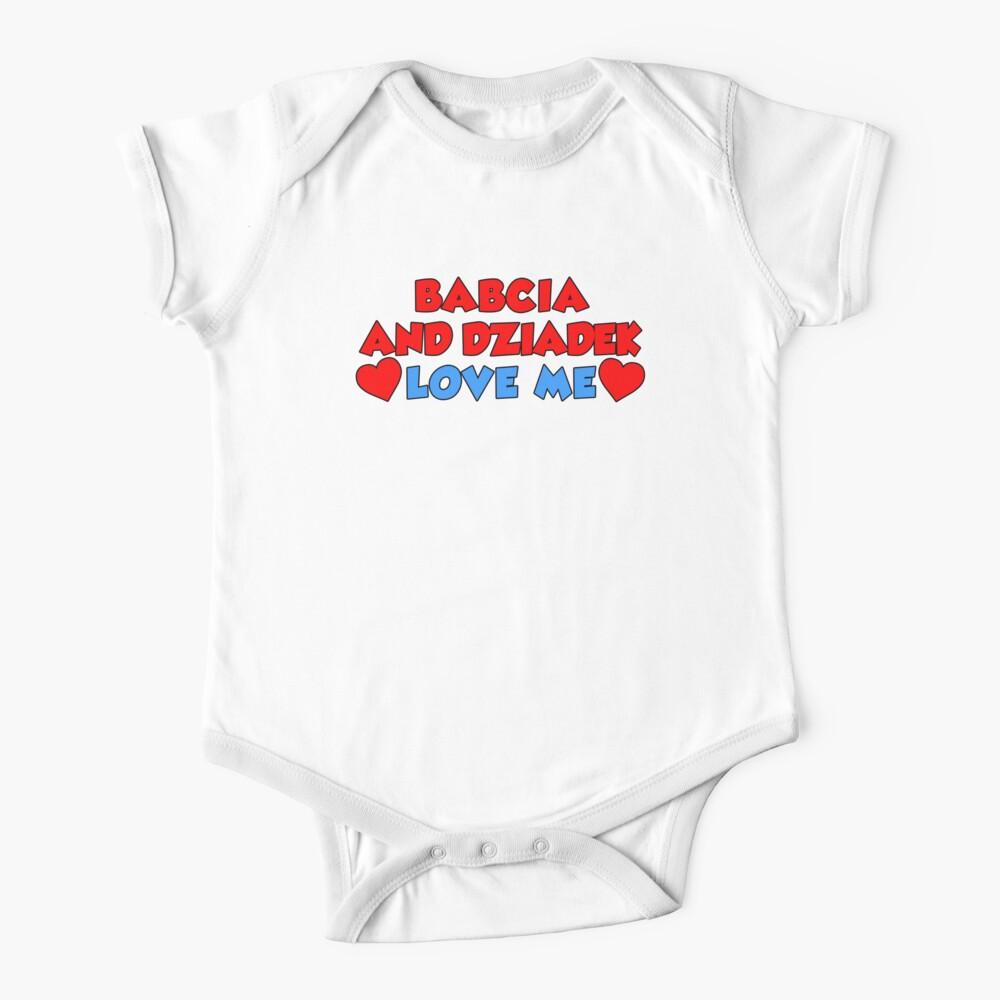Heart Love My Dziadek Polish Grandpa Short Sleeve Toddler T-Shirt I