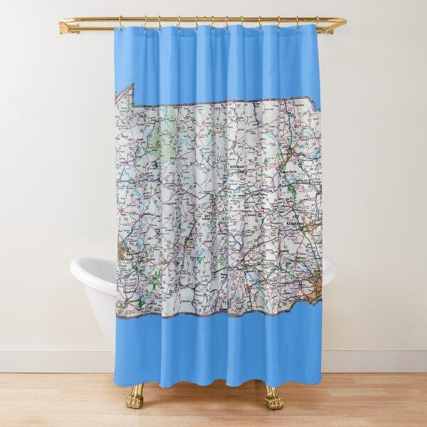 Pennsylvania Roadmap Shower Curtain