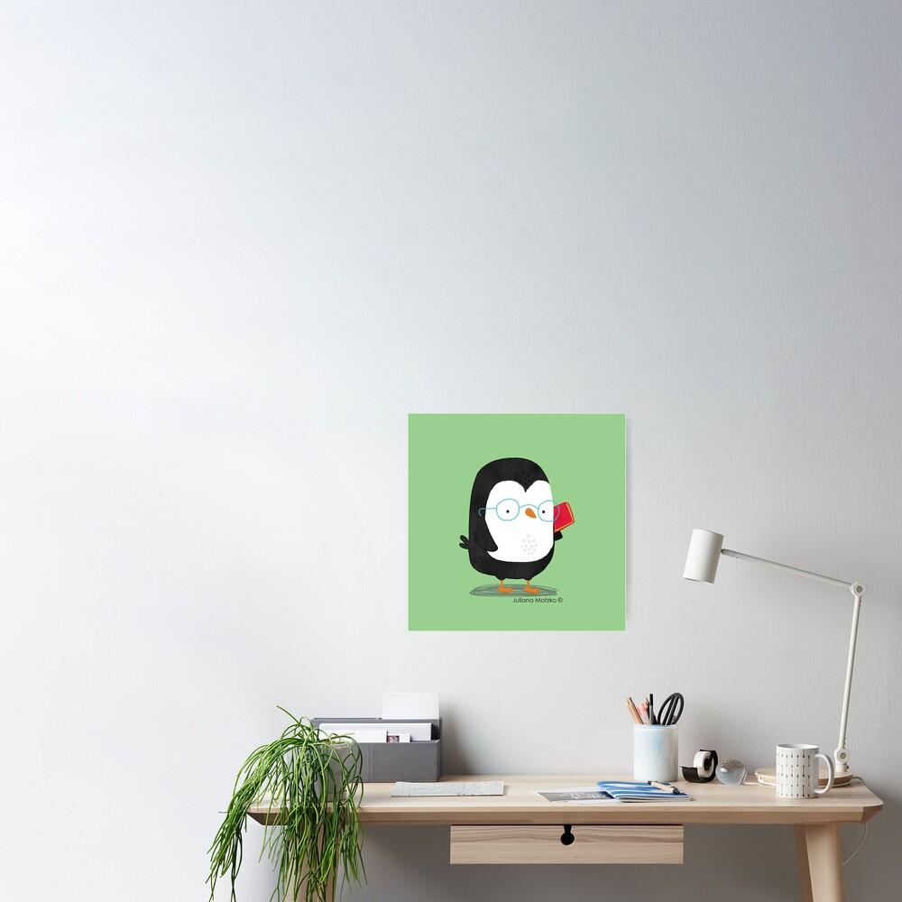 Nerd Penguin Poster