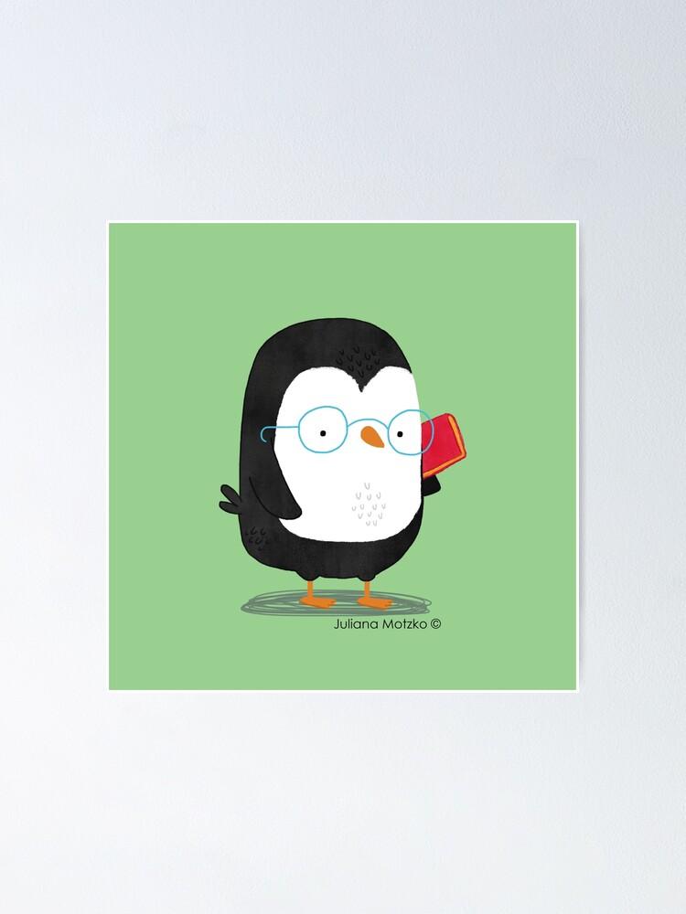 Alternate view of Nerd Penguin Poster