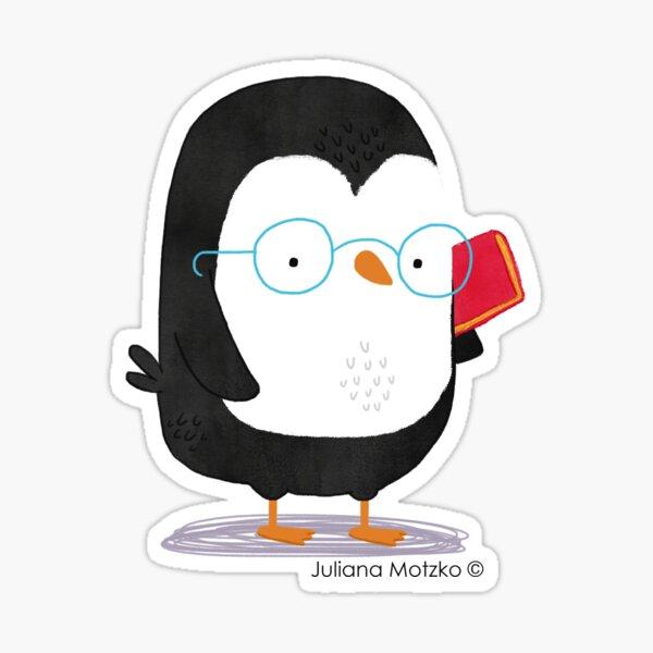 Nerd Penguin Sticker