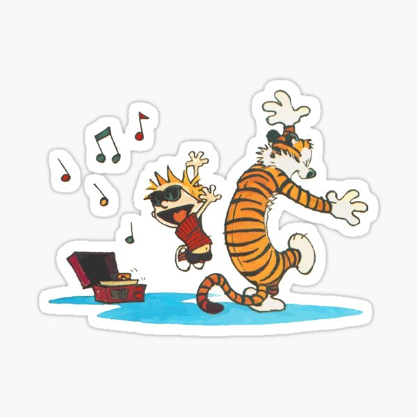calvin music Sticker