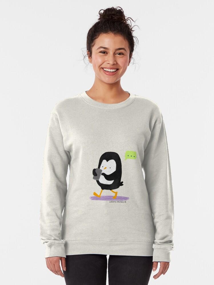 Alternate view of Penguin Texting Pullover Sweatshirt