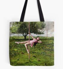 Dancing Poles And Rabbits Tote Bag