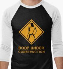 Body Under Construction 2 Men's Baseball ¾ T-Shirt