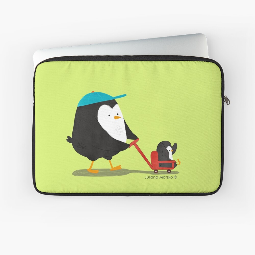 Penguin Dad and Baby Penguin  Laptop Sleeve
