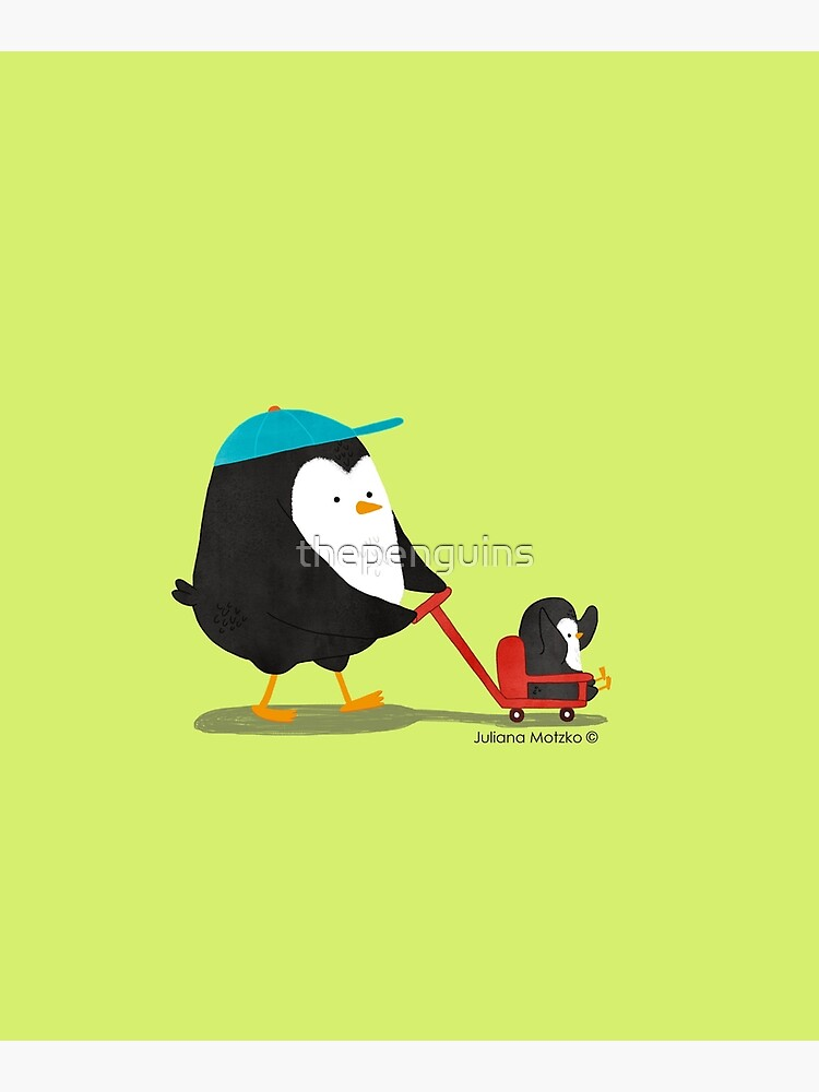 Penguin Dad and Baby Penguin  by thepenguins