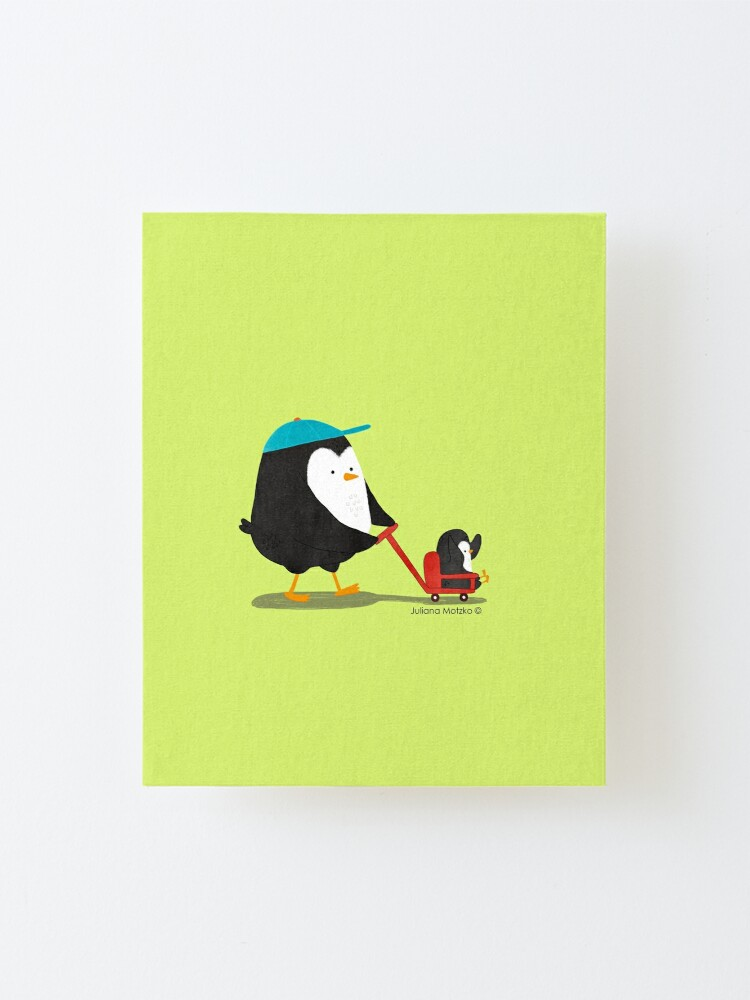 Alternate view of Penguin Dad and Baby Penguin  Mounted Print