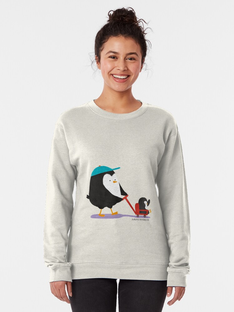 Alternate view of Penguin Dad and Baby Penguin  Pullover Sweatshirt