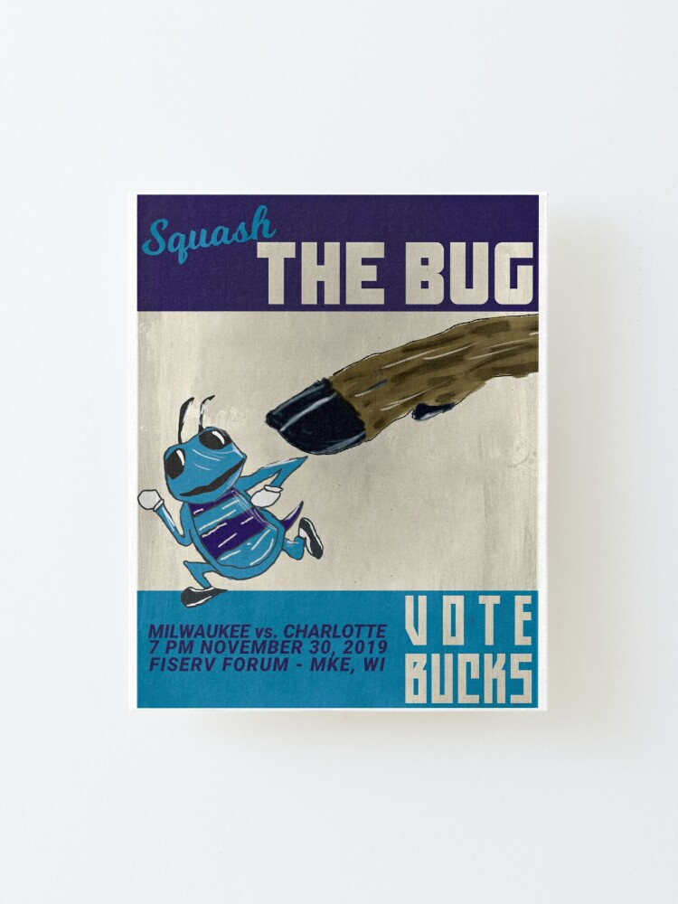 Alternate view of Squash the Bug Mounted Print