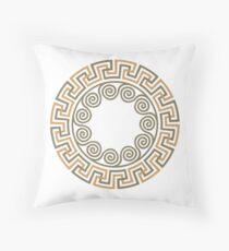 Greek ornament Meander Throw Pillow