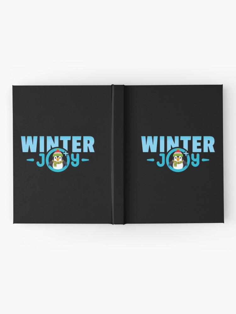 Alternative Ansicht von Winter Joy Logo Emoji JoyPixels für Weihnachten Notizbuch