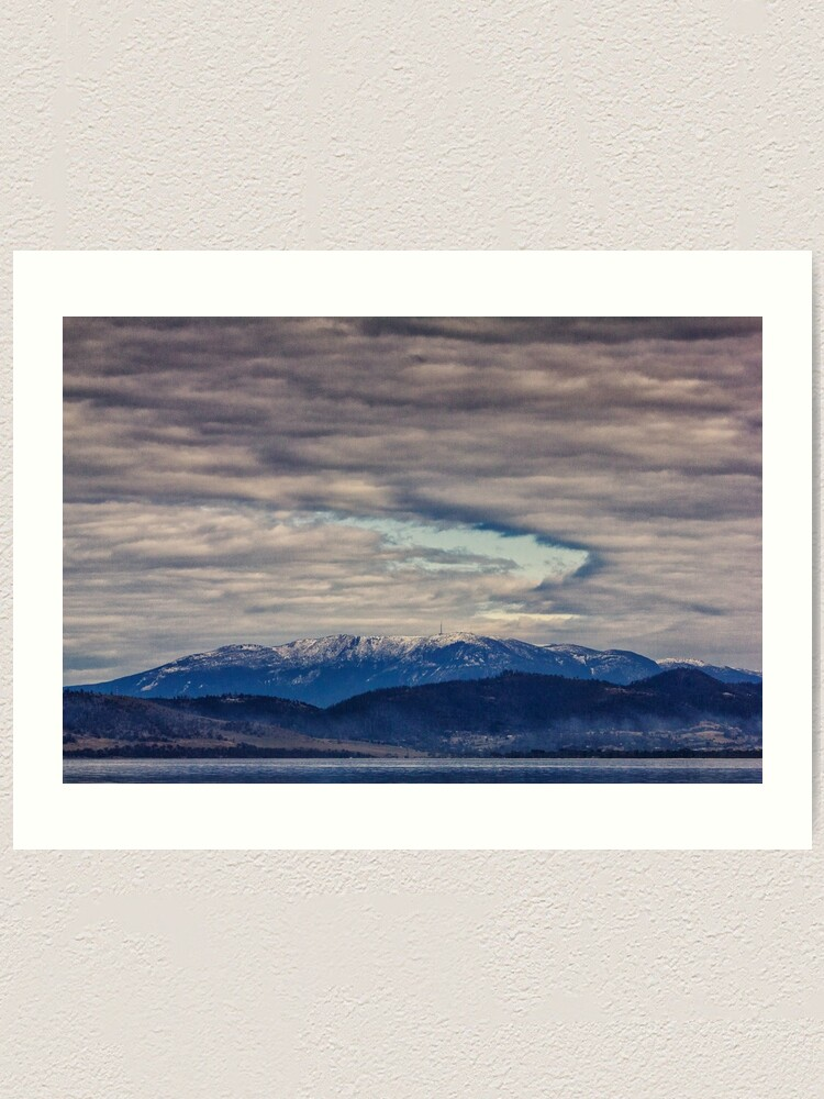 Alternate view of Mount Wellington In Winter Art Print