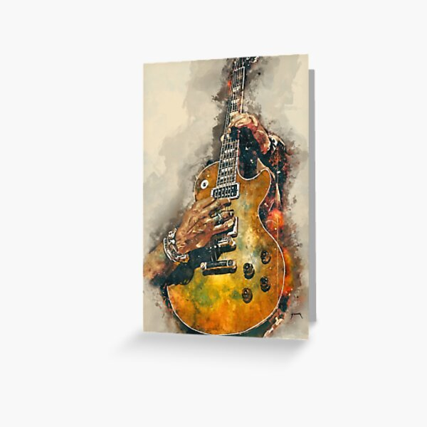 Slash's electric guitar Greeting Card