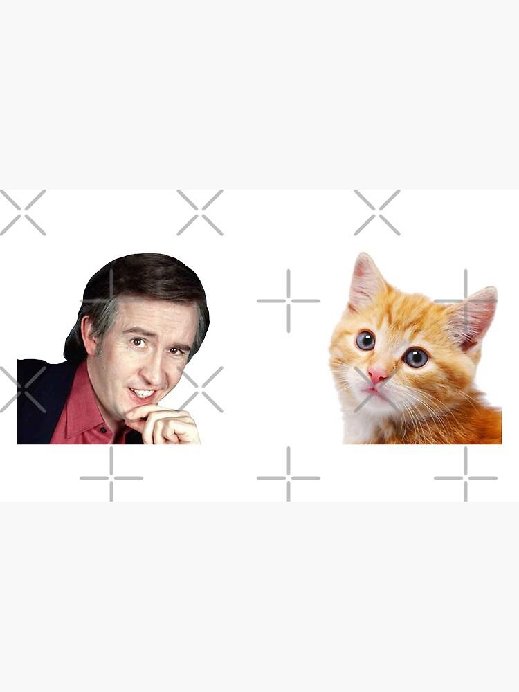 I'm Alan Partridge – Alan and Cat Mug by PonchTheOwl