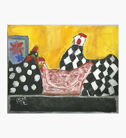 Some Painted Poultry:-) Photographic Print
