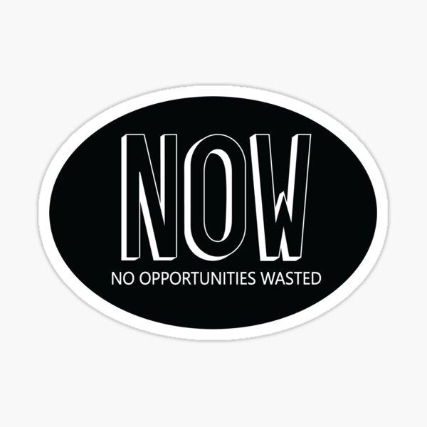 No Opportunities Wasted Sticker Sticker
