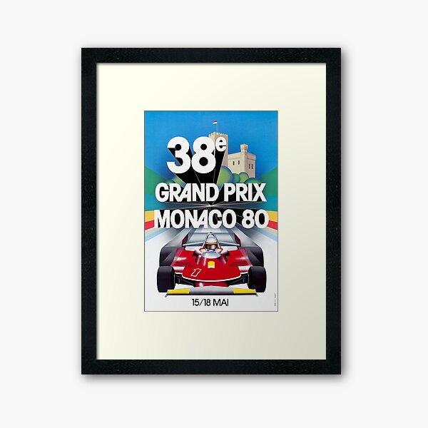 Monaco Grand Prix 1980 Framed Art Print