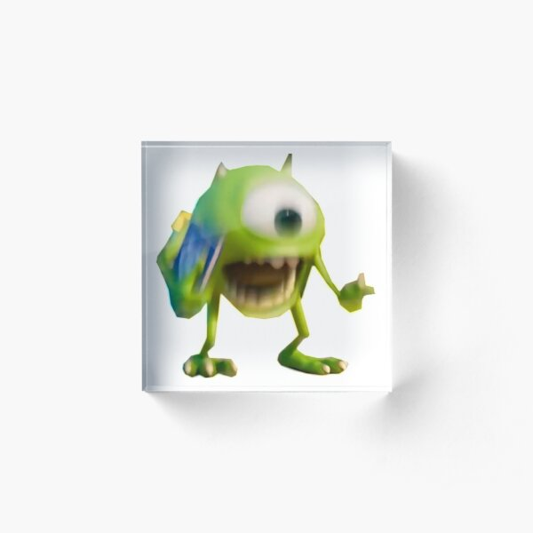 Shrek Mike Wazowski Meme Acrylic Block By Madgeik Redbubble