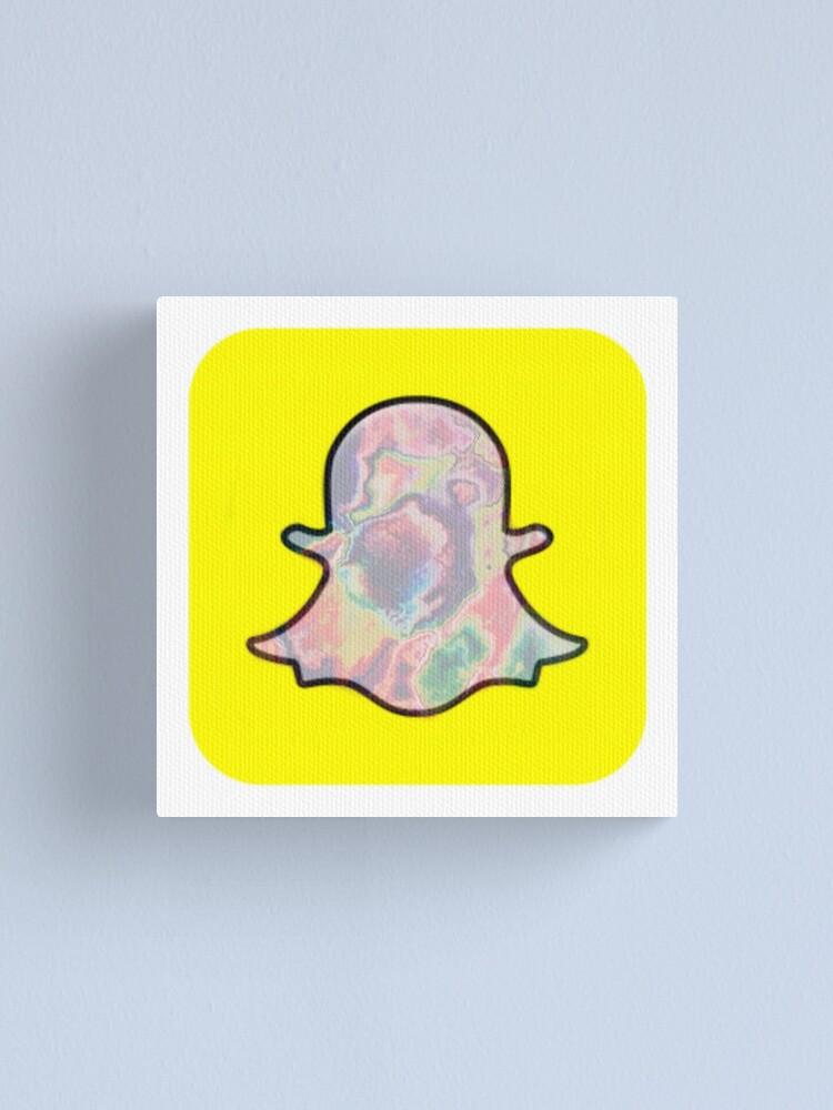 Trippy Snapchat Logo Canvas Print By Cinam0n Redbubble