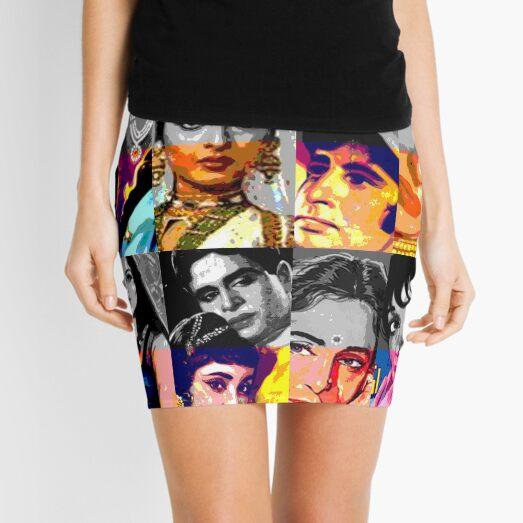 Vintage Bollywood Pattern 3 Mini Skirt