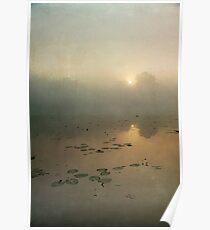 Sunrise through English mist Poster
