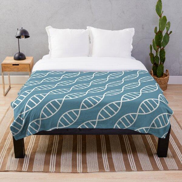 DNA Biotech Pattern Blue Throw Blanket