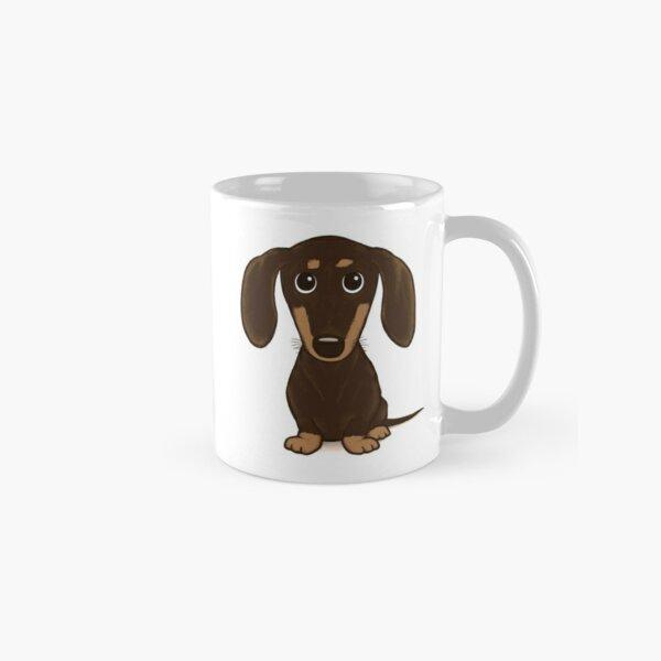 Cute Chocolate Dachshund   Cartoon Wiener Dog Classic Mug