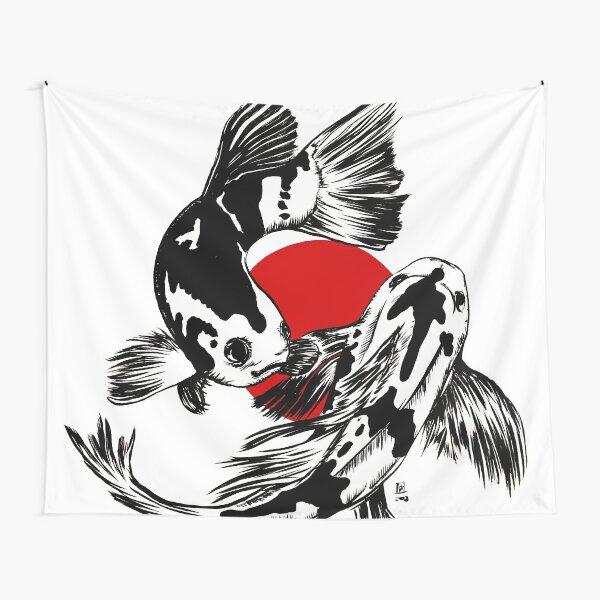 Japanische Kois Wandbehang