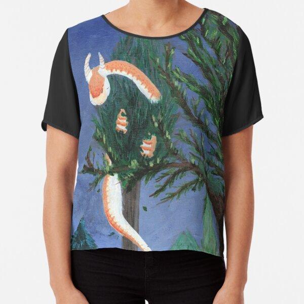 Orange Dragon in a Tree Chiffon Top