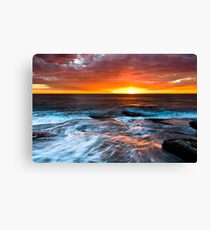 Sky Ablaze - Terrigal Canvas Print
