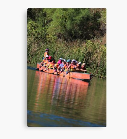 Paddling the Ord Marathon Canvas Print