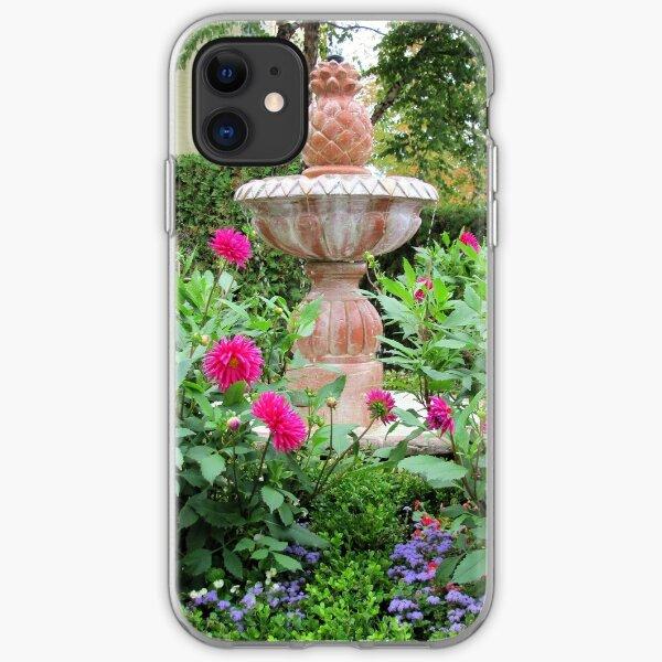 Gorgeous Garden Fountain iPhone Soft Case