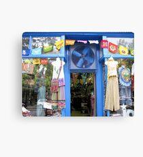 Blue Storefront Canvas Print