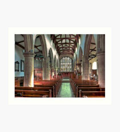 St Andrew Church - Dent,Cumbria Art Print