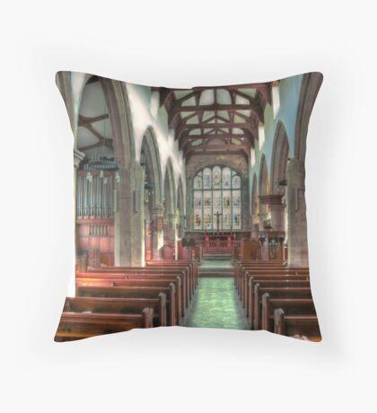 St Andrew Church - Dent,Cumbria Throw Pillow