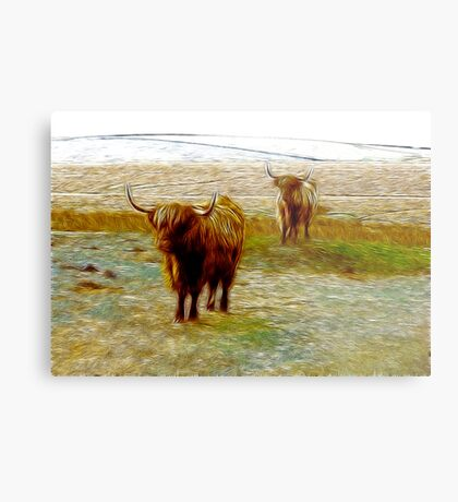 Hairy Beasties Metal Print