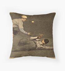 Vintage Style Baseball Memorabilia Throw Pillow