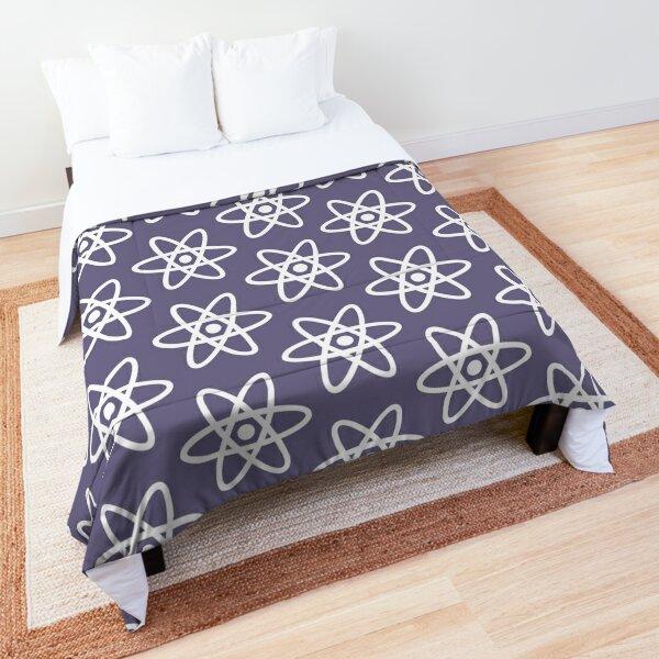 Physics Atom Pattern Purple Comforter